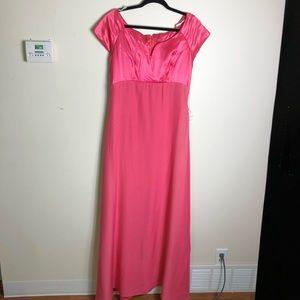Vintage size 14 coral event dress